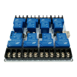 Dc 30a 5v 8 Channel Usb Relay Module Serial Control Switch Hi Low Level Trigger
