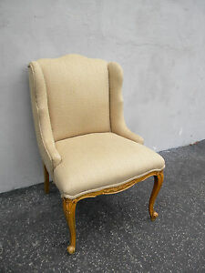French Painted Wing Back Living Room Side Chair 5267