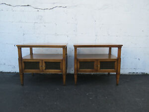 Mid Century Modern Pair Of Nightstands Side End Tables By Drexel 8874