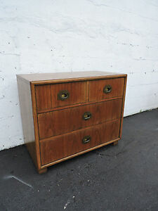 Hollywood Regency Mid Century Small Dresser Large Nightstand By Dixie 7094