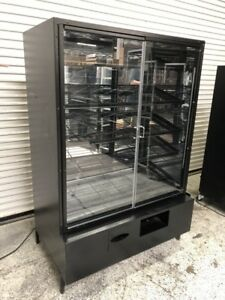 48 Dry Bakery Display Case Bread Donut Bagel Pastry Food Storage Cabinet 8538