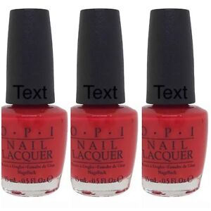 OPI - Coca-Cola Red - C13 Coke Creme Classic Red Nail Polish Lacquer Pack of 3