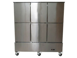 6 Six Door Stainless Steel Restaurant Business Commercial Freezer Refrigerator
