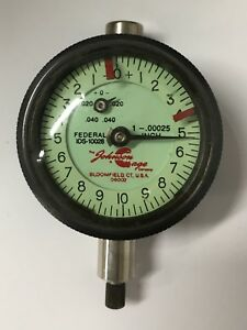 Federal Johnson Gage Co Ids 10028 Dial Indicator 0 040 Range 00025