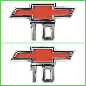 Trim Parts 9525 1967 1968 Chevrolet Gmc Truck Front Fender Emblem Set C10 K10