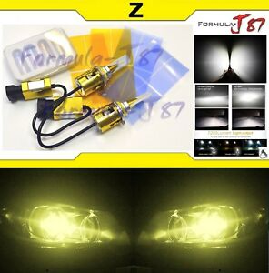 Led Kit Z 96w 9006 Hb4 3000k Yellow Two Bulbs Head Light Lamp Replacement Oe
