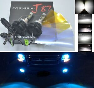 Led Kit X3 50w 9006 Hb4 10000k Blue Two Bulbs Head Light Low Beam Replacement
