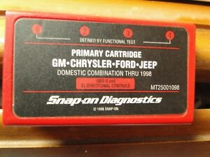 1998 Snap On Mt2500 Scanner Us Domestic Primary Cartridge Mt25001098 1998