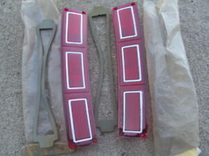 1968 Amc Rambler Rebel Station Wagon Nos Tail Light Lenses