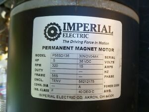 Imperial Electric Motor Permanent Magnet Motor Model P56sd136