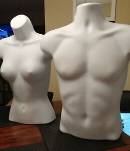Male female Manequin Half Torso Body Dysplay Form
