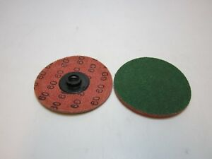 Merit Abrasives 64433 Green Powerlock 3 Sanding Disc Qc Type 2 60z p Box Of 50
