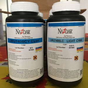 Nazdar 7400 Uv Ink For 1set C m y k w lc lm