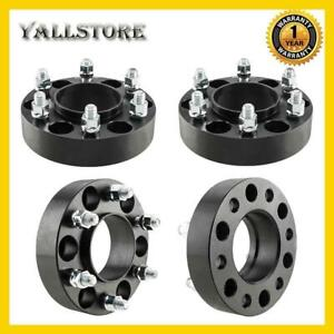 4pcs 6x135 1 5 Thick Black Hub Centric Wheel Spacers Fits Ford Expedition F 150