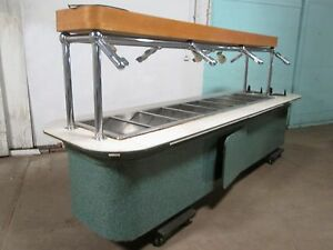 H d Commercial Custom Built Hot Buffet Table W sneeze Guard Plate Dispenser