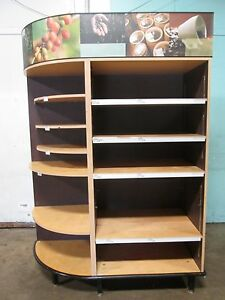 Heavy Duty Commercial Large Open Dry Bakery Display Merchandising Case cabinet