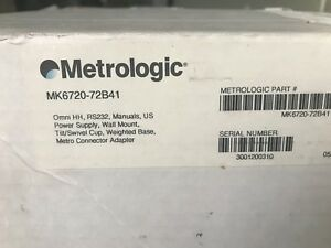 Metrologic Ms6720 Hand Held Barcode Scanner With Cable Base And A c Adaptor