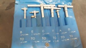 Six Pc Telescoping Gage Set To Accurately Measure 313 To 6 Bore Diameters