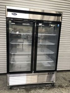 New 2 Glass Door Refrigerator Cooler Scratch Dent Special Atosa Mcf8707 8516