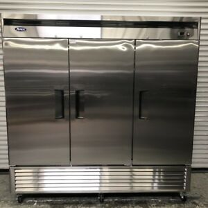 New 3 Solid Door Reach In Freezer Floor Display Atosa Mbf8504 8517 Commercial