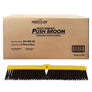 Multi Surface Push Broom Coarse Polypropylene And Polystyrene Heavy duty Floor