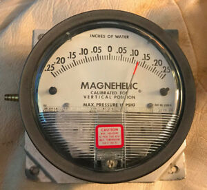 Dwyer Magnehelic Differential Pressure Gauge 2300 0 W43h 4 Dial Size