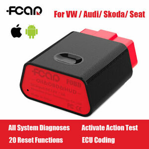 Fcar Auto Obd2 Scanner Bluetooth Code Reader Diagnostic Tool For Vw Audi