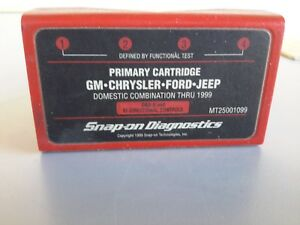 Snap On Mt2500 Scanner 1999 Us Domestic Primary Cartridge Mt25001099