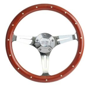 Camaro Mahogany Chrome Steering Wheel Ss Horn Billet Adapter 15 Wheel