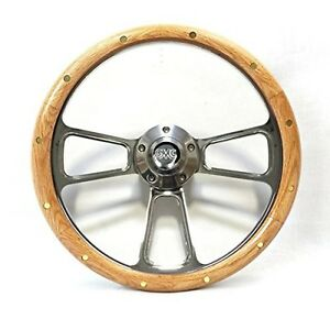 1948 1959 Gmc Pick Up Trucks Oak Billet Steering Wheel Gmc Horn Kit