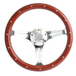 1970 1973 Gmc Pick Up Truck Mahogany Chrome 15 Steering Wheel Full Kit