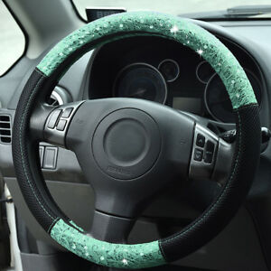 Universal Car Steering Wheel Cover Mint Lace Fashion 37 38 39 Cm For Boys Girls