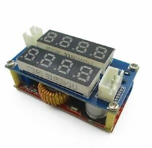 5pcs 5a Adjustable Display Step Down Charge Module Led Panel Voltmeter Ammeter V