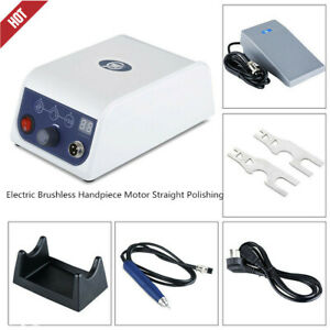 Dental Lab Electric Brushless Handpiece Motor Straight Polishing 50000rpm Holder