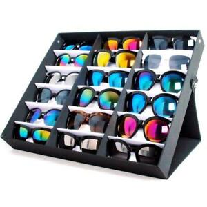 Glasses Display Storage Box Holder Waterproof 18 Sunglasses Retail Shop Display