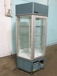 traulsen Commercial 6 Sided Lighted Refrigerated Rotating Bakery Display Case