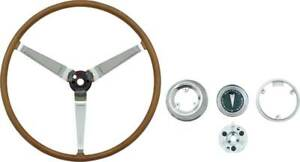 Oer F19666 1968 Pontiac Firebird Gto Lemans Deluxe Wood Steering Wheel Set