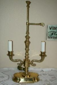 Directoir French Bouillotte Lamp Ornate Brass Chic Shabby Hollywood Regency Vtg