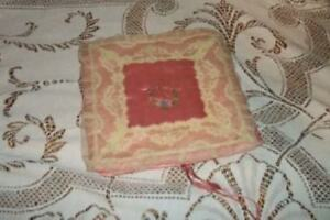 Antique Chic Satin Hanky Hankie Holder Shabby Lace Rose Vanity Cottage