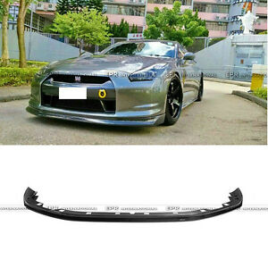 New Zele Front Bumper Lip For Nissan Skyline R35 2008 2011 Gtr Cba Carbon Fiber