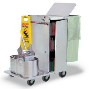 Royce Rolls Stainless Steel Housekeeping Cart