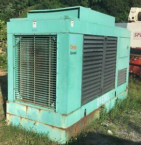 Cummins Onan Standby Diesel Generator 250kw 3ph 167kw 1ph Low Hours Fuel Tank