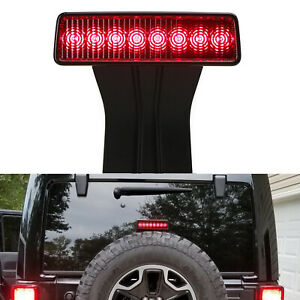 8 led High Mount Black 3rd Brake Strobe Feature Light For 07 17 Jeep Wrangler Jk
