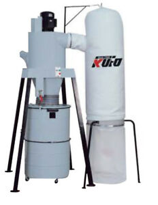 Kufo Seco Cyclone Dust Collector 5hp 3 Phase 220v Motor 2500 Cfm Suction