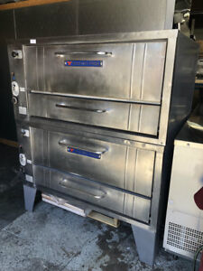 Double Stack Gas Pizza Oven With Baking Stones Bakers Pride 305p 8542