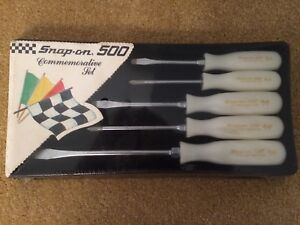 Snap On 500 Limited Edition Commemorative Set Of 5 Screwdrivers Unopened Pearl