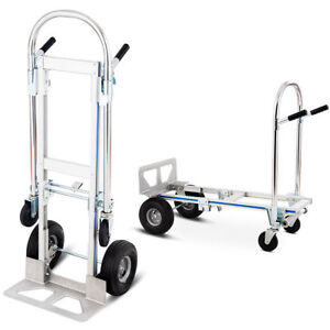 2in1 Aluminum Hand Truck Convertible Folding Dolly Platform Cart 770lbs Capacity