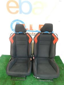 13 14 15 16 Scion Fr S Br Z Black Red Cloth Front Bucket Seats L R Hot Rod