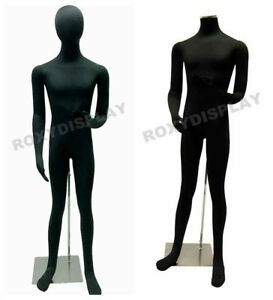 Male Full Body Poseable Mannequin Black Jersey Covered Body Form jf m02softx