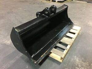 New 48 Excavator Ditch Cleaning Bucket For A Takeuchi Tb250 With Coupler Pins